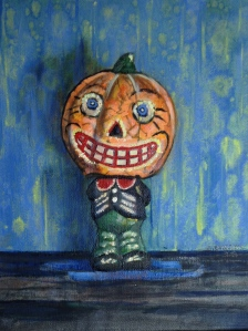 Portrait of Mr. Pumpkin Head Figurine